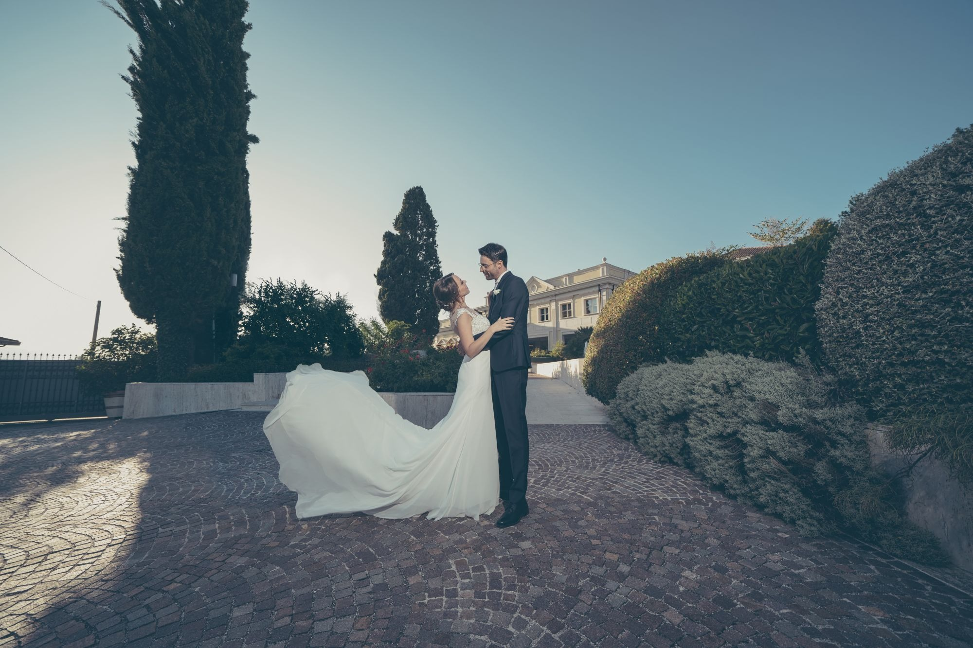WEDDING IN VILLA TIBERIADE, NAPLES, ITALY