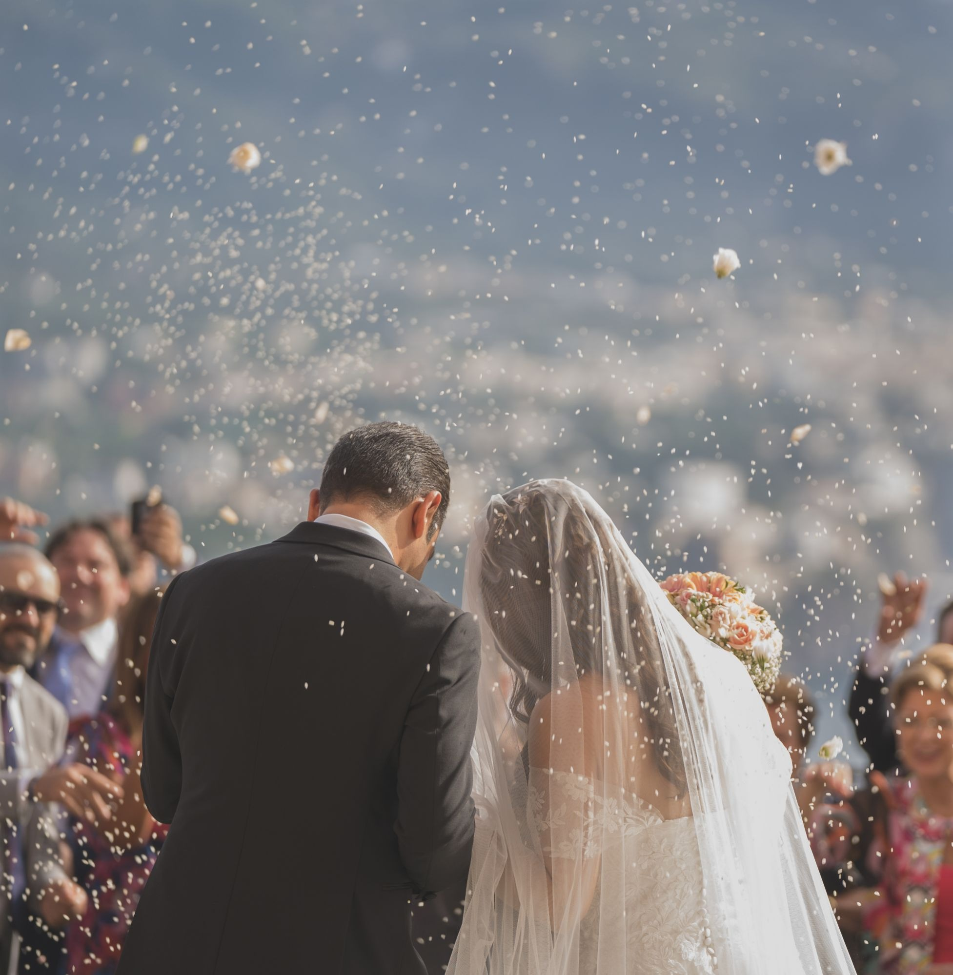 WEDDING IN CHURCH OF SANTA MARIA DELLE GRAZIE, VICO EQUENSE, SORRENTO COAST, ITALY